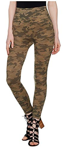 SPANX Women's Look at Me Now Cropped Leggings Desert Camo Large 20