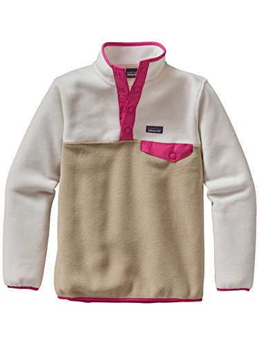 Patagonia Girl's Lightweight Synchila Snap-T Pullover Fleece Jacket El Cap Khaki S by Patagonia