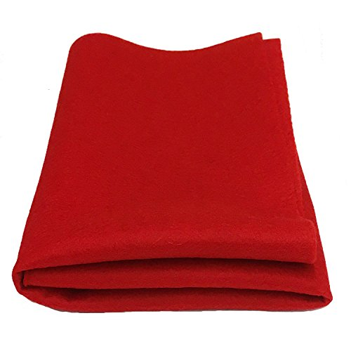 100% Merino Wool Craft Felt - RED (Yard) (100 Wool Felt Fabric By The Yard)