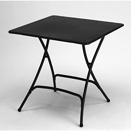 Scab Mesa Plegable de Hierro 80 x 80 Color Antracita: Amazon.es: Hogar