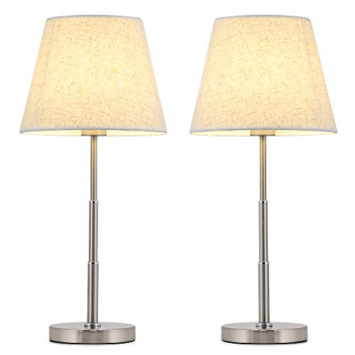 Haitral Modern Table Lamps Set Of 2 Nightstand Lamps With Round