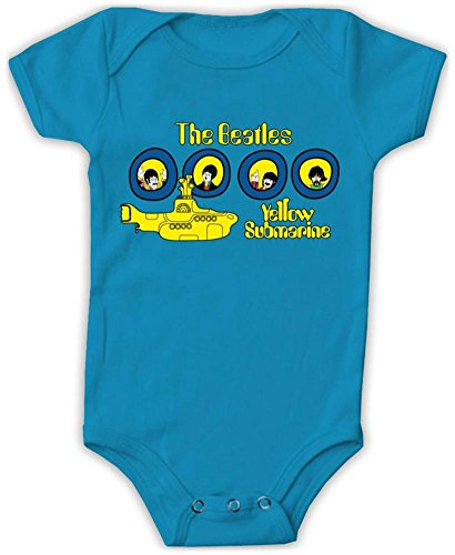 Beatles Yellow Submarine Portholes Baby Romper - Blue (18 months) ()