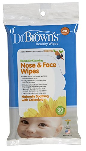 Dr. Browns Nose and Face Wipes, - 2 Packs Of 30 Count = 60 Wipes by Dr. Brown's