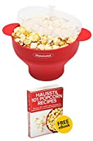 Microwave Air Popcorn Popper - Silicone Popcorn Maker Bowl for Home - Free of PVC & BPA - Healthy Instant Kernels Popping - Save on Popcorn Machine and Bags