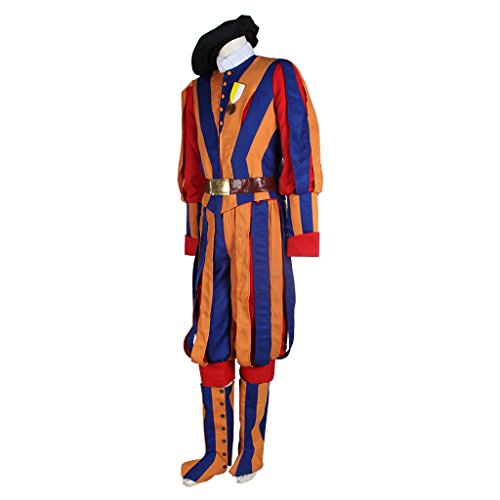 1791's lady Men's Carnival Switzerland Soldiers Swiss Guard Uniform Cosplay Costume L by 1791's lady (Image #2)