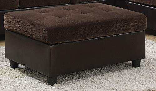 Coaster Mallory Casual Ottoman, Dark Chocolate