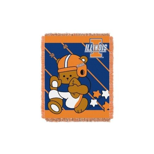The Northwest Company Officially Licensed NCAA Illinois Illini Fullback Woven Jacquard Baby Throw Blanket, 36