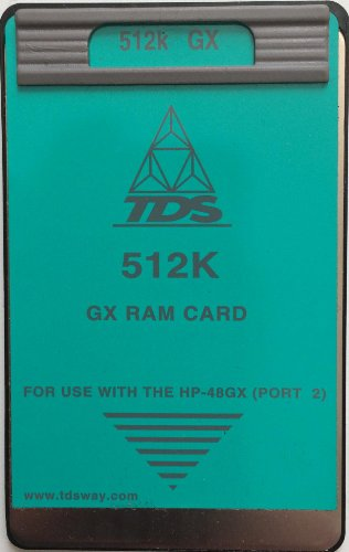 - TDS 512K RAM Card for the HP 48GX