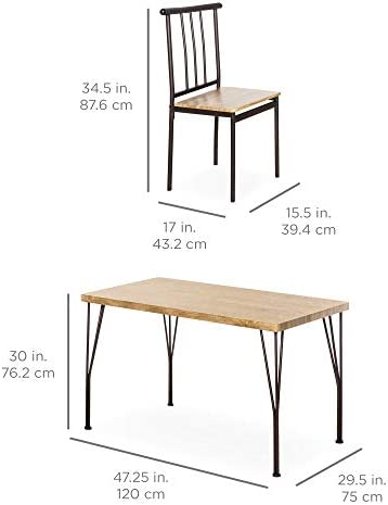 home, kitchen, furniture, kitchen, dining room furniture,  table, chair sets 2 discount Best Choice Products 5-Piece Indoor Modern Metal deals