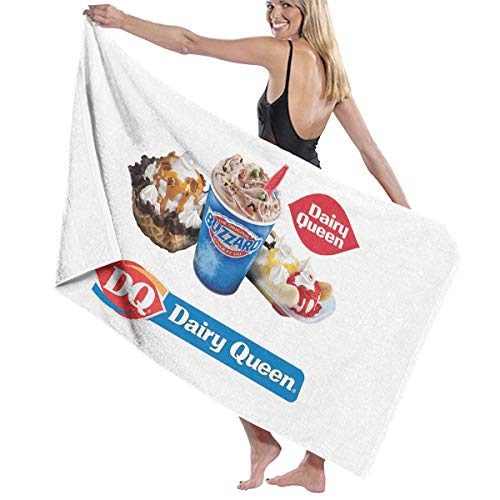 STACDO Dairy Queen Councilbluffs 20 Food Or Ice Cream Dairy Queen Logo and Font Touchup Shadow Bath Towels Shower Towel (Best Dairy Queen Blizzard)