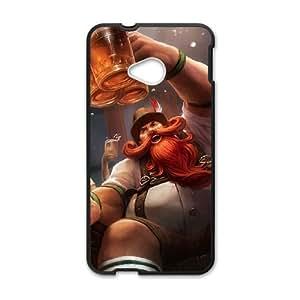 HTC One M7 Phone Case Covers Black League of Legends Gragas HUD Design Unique Case