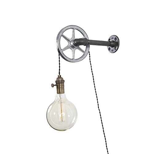 - Iron Pipe Industrial Wall Pulley Light by West Ninth Vintage | 1 Light