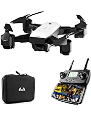 FPV Drone with 1080P HD Camera Live Video and GPS Satellite Positioning, Foldable Quadcopter with Adjustable Wide Angle Camera, Follow Me, Headless Mode, Long Flying Time, Selfie Drone, Carrying Bag