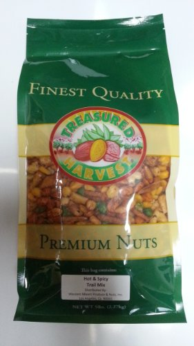 Hot 'n Spicy Trail Mix - 4 lb. Zip Lock Pouch Bag by Treasured Harvest
