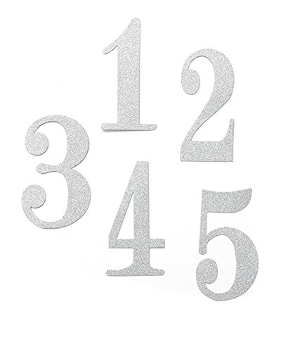 - Silver Glitter Table Numbers 1-12