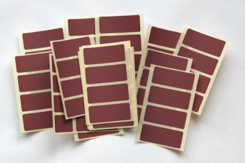 80 Maroon Stickers - Sticky Coloured Self Adhesive Labels for Colour Coding Coloured Self Adhesive Labels