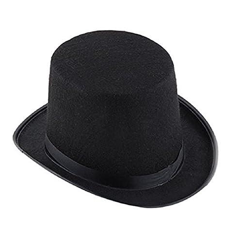 6ca332a2c3b74 SODIAL(R) Sombrero negro del mago Sombrero de Halloween Sombrero de jazz  negro  Amazon.es  Juguetes y juegos
