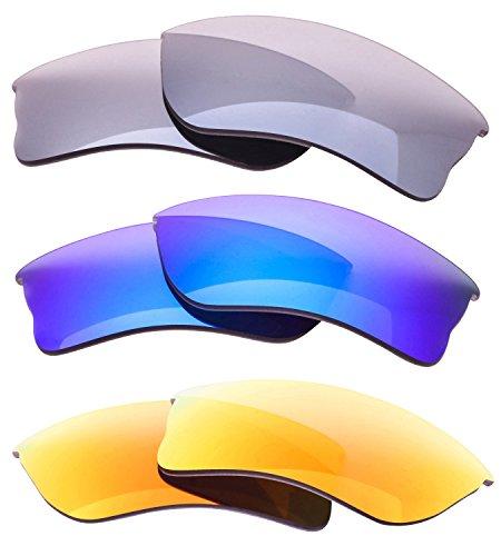 LenzFlip Polarized Replacement Lenses Oakley QUARTER JACKET Sunglass - Patriotic 3 Multi Pack by LenzFlip