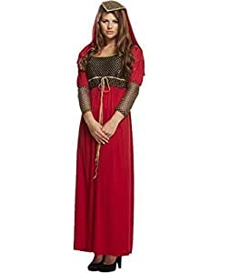 Ladies Romeo and Juliet Medieval Shakespeare Fancy Dress Costume Outfit UK 8-12