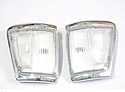 88 - 97 89 91 95 Toyota Hilux Ln106 4wd 4x4 Pair Chrome Indicator Corner Light 90 Ln111 Clear Lenses