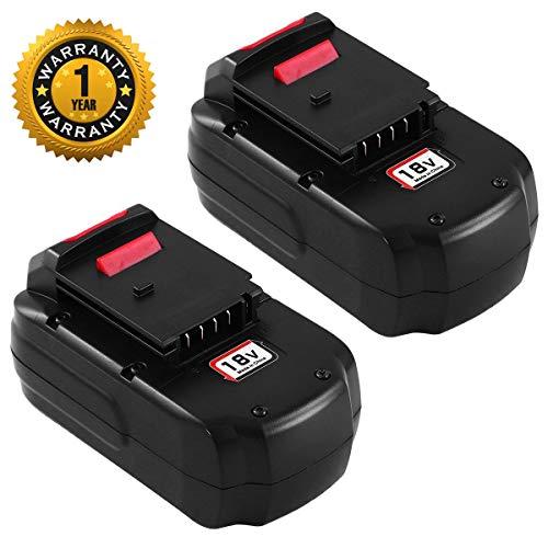 (2 Pack PC18B 18 Volt Ni-Mh Replace for Porter Cable 18V Battery 3.0Ah PCC489N PCMVC PCXMVC PC188 PC18B-2 PC18BLEX Cordless Power Tools)