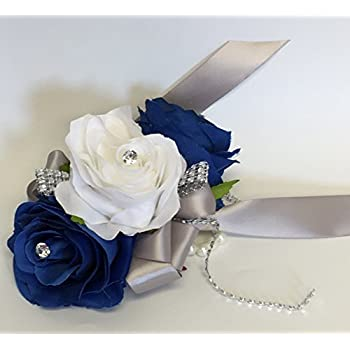 how to make a blue corsage