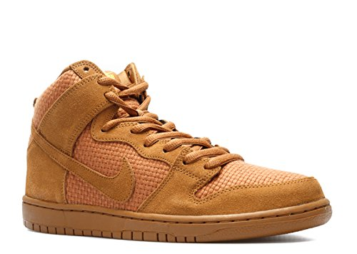 Nike Mens Dunk High Premium SB Ale Brown/Tour Yellow Fabric Size 12