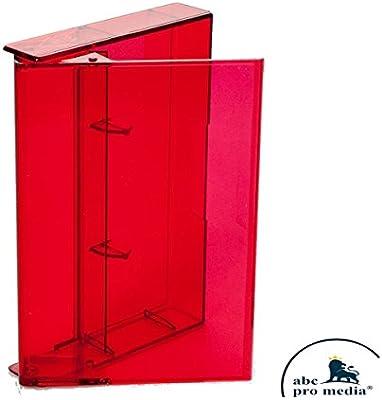 Música de Casset Ten Fundas/Cajas, MC de cartuchos de fundas, transparente de color rojo teñida 20 unidades: Amazon.es: Informática