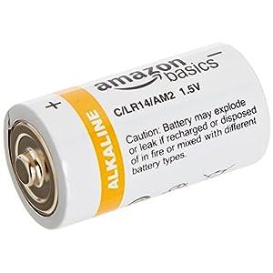 AmazonBasics C Cell Everyday 1.5 Volt Alkaline Batteries – Pack of 12