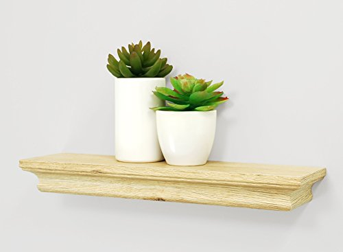 "kieragrace  Boston Wall Shelf, 16"" , Natural Wood, Pale Natural Wood - Decorative wall ledge Overall size: 1.25x16x4"" Ready to hang; hanging hardware and instructions included - wall-shelves, living-room-furniture, living-room - 41f4 RfWYaL -"
