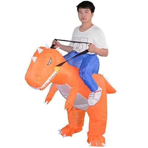 Adult Kids Dinosaur Inflatable Costume Fancy Dress Halloween Blow Up Carnival Costume,C-40-80cm]()