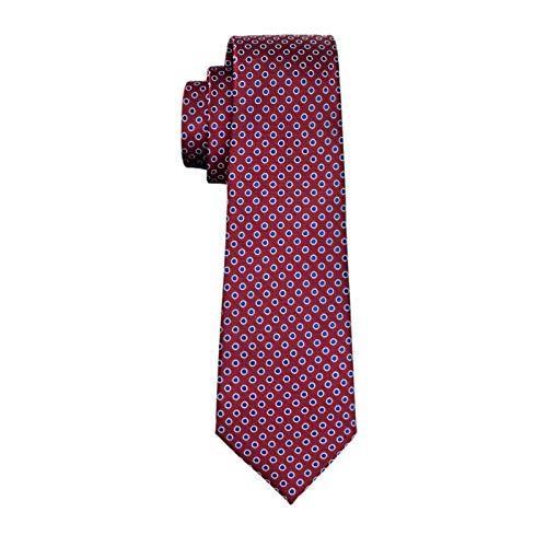 RXBGPZLD Moda Hombre Corbata Red Polka Dot 100/% Seda Pa/ñuelo Gemelos Corbata Para Hombres Banquete De Boda De Negocios