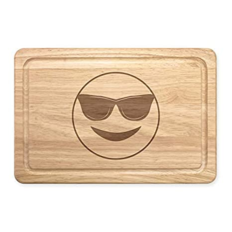 Gafas de Sol Emoji Rectangular Tabla para Picar de Madera ...