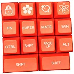 Suitable for Cherry MX Switch 60//87//104//108 Key,60 SA Keycaps Red and White Pbt Keycaps