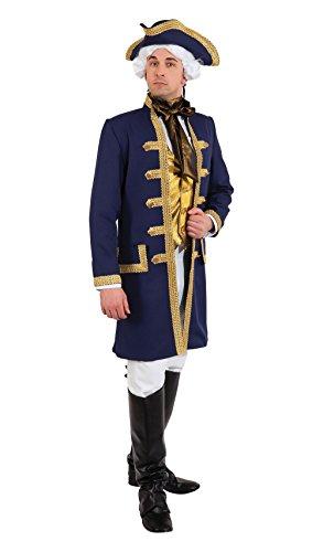 Bristol Novelty AF055 Admiral Costume, Mens, Blue/Gold, 44-46-Inch -