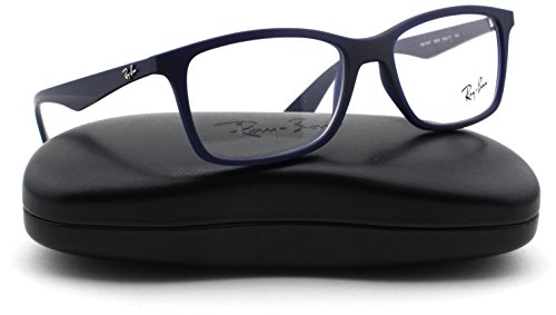 f890d60ae9 Ray-Ban RX7047 Rectangle Unisex Eyeglasses (Matte Blue Frame 5450 ...