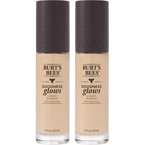 Burt's Bees Goodness Glows Liquid Makeup, Porcelain - 1.0 Ounce (Pack of 2)
