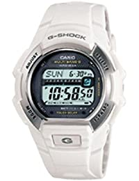 Outdoor G-Shock Atomic White Outdoor Watch With Rally Mode Timer, White GWM850-7