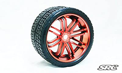 SRC Road Crusher (Belted) 17mm hex Chrome Red (PAIR)
