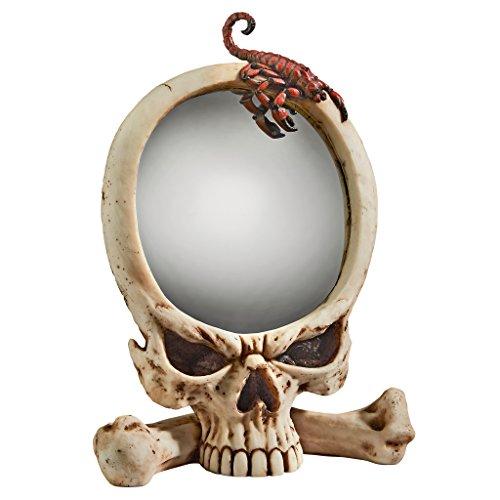 Design Toscano Sting Of The Scorpion Skull Wall Mirror
