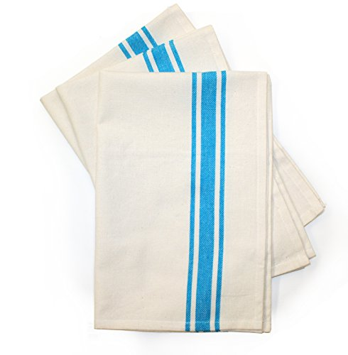 Aunt Martha's 18-Inch by 28-Inch Package of 3 Vintage Dish Towels, Multi Striped