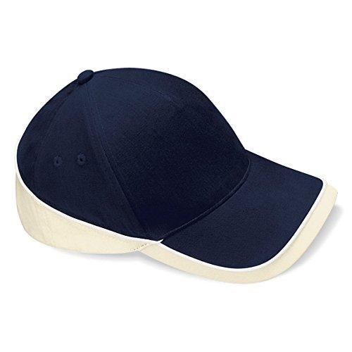 Beechfield - Gorra/Visera Unisex deportiva Modelo Competition - Verano/Piscina - 100% algodón. Navy / putty