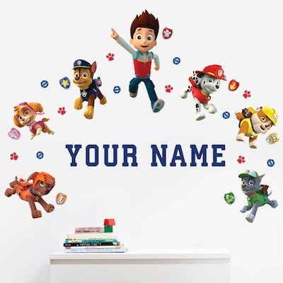 Personalized Paw Patrol Kids Name Wall Decal by Oliver's Labels (Image #2)