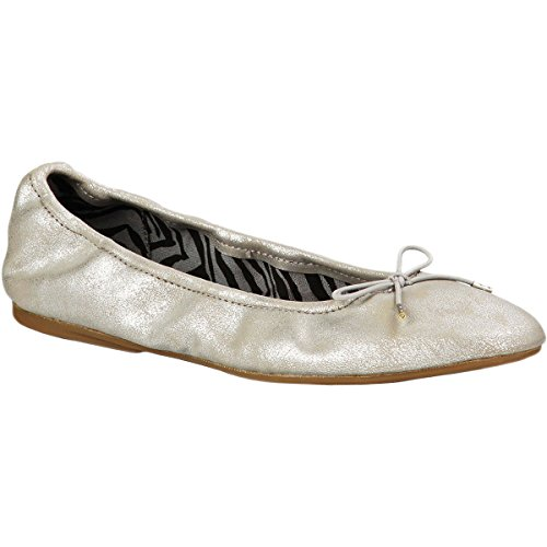 Sanuk Women's Yoga Ballet Flats Silver 9