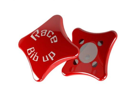 RaceBIBup deportes imanes para los números dorsal para de competir color rojo