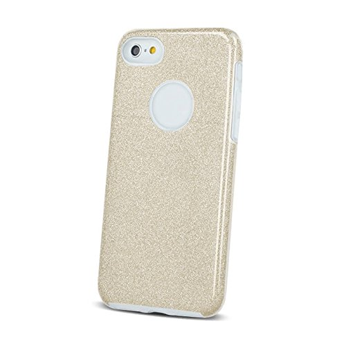 BACK CASE SHINNING BLINK Gold Für Apple iPhone 5 iPhone 5S iPhone 5G iPhone 5SE Silikonhülle Hülle Etui Flip Cover Silikon Tasche glitzern glänzend mit Brokat