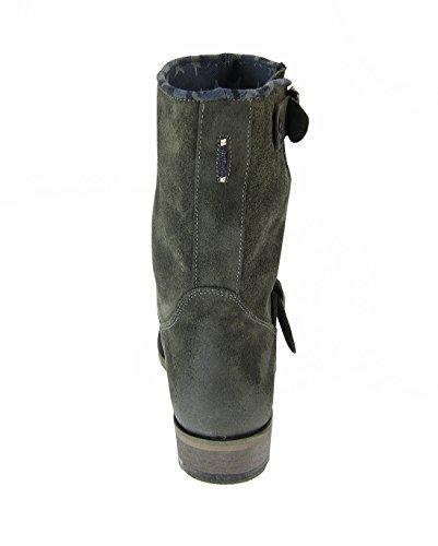 Hilfiger Denim Damen Stiefel Hudson Biker Boots EN56816420 021 Antracite Gr. 40