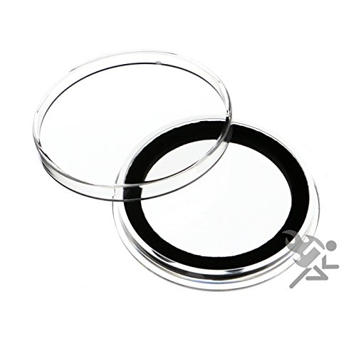 (3) Air-tite X39mm Black Ring Coin Holder Capsules for Medallions & Challenge Coins Black Capsule