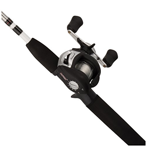 Shakespeare Alpha Medium 6' Low Profile Fishing Rod and Bait cast Reel Combo (2 Piece)
