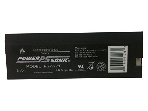 Powersonic PS-1223 - 12 Volt/2.3 Amp Hour Sealed Lead Acid Battery with Pressure Contact Fast-on Connector